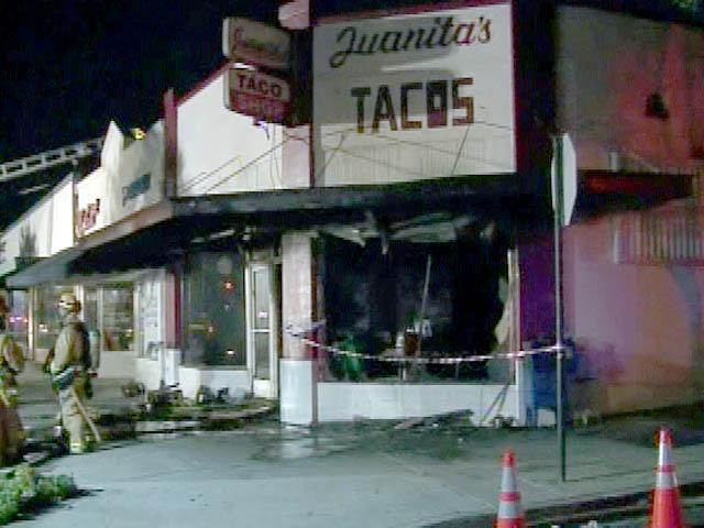 Fire Damages Vista Taco Shop KGTV TV San Diego