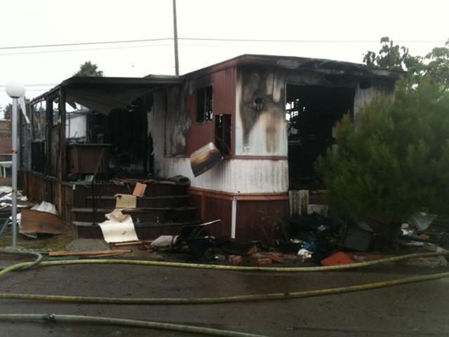 Fire Damages Chula Vista Mobile Home