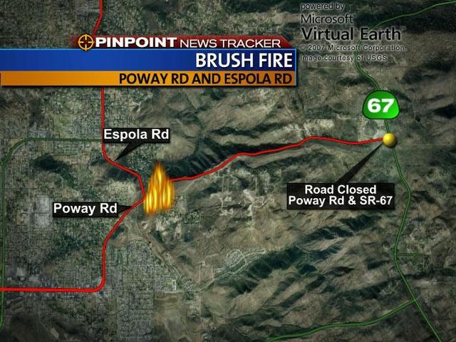 Firefighters Contain Brush Fire In Poway 10news Com Kgtv