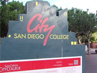 City College sign