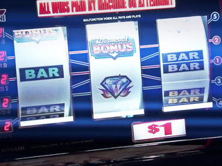 Casino slot machine screen