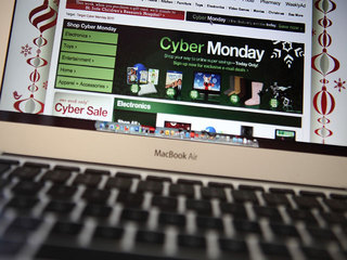 Cyber Monday computer screen