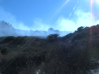 Brush fire near Knott's Soak City