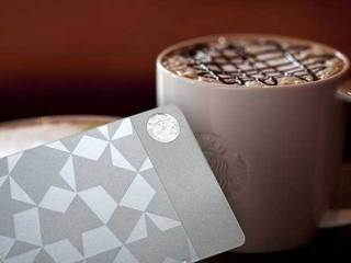 Starbucks steel gift card