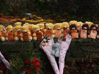 Teddy bears for victims