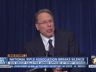 NRA holds news conference; Calls for armed police in schools