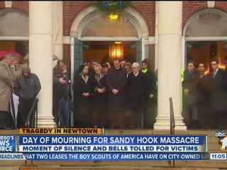 Nationwide moment of silence for Newtown, Conn., shooting victims