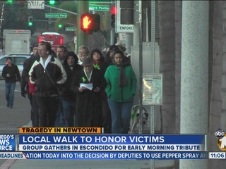 Walk 27 event held in Escondido to honor Sandy Hook victims