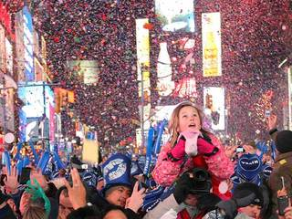 Times Square New Years revelers