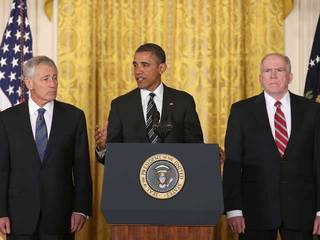 Hagel, Obama and Brennan