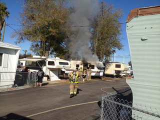 El Cajon mobile home fire