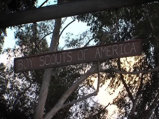 Boy Scouts of America sign
