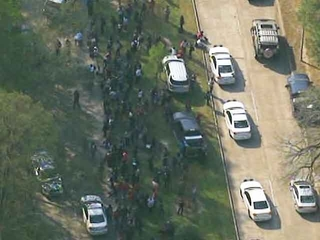 Houston college shooting scene