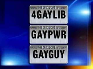 Gay on license plate