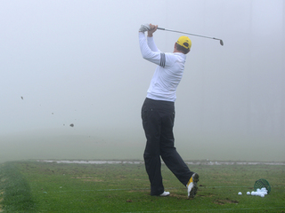 Fog at Farmers Insurance Open