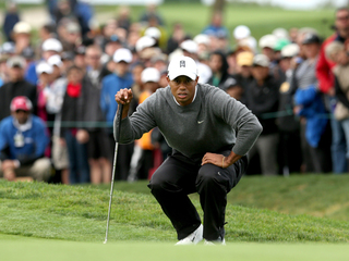 Tiger Woods, crowd at Farmers Insurance Open