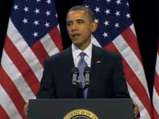 Obama speaking in Las Vegas