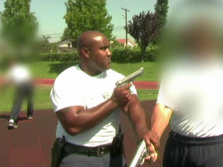 Christopher Dorner during LAPD training