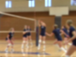 Volleyball team blur