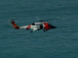USCG chopper search
