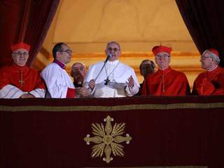 Pope Francis speaks to Vatican City crowd