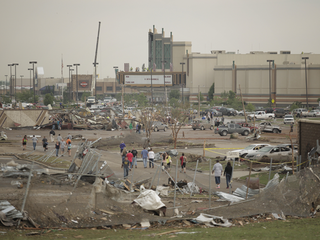 Crews dig through night after twister