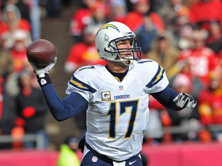 San Diego Chargers vs. Kansas City Chiefs - Philip Rivers throws pass