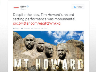 Howard's WCup performance leads to Internet fame