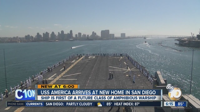 Uss America Arrives In San Diego 10news Com Kgtv Abc10