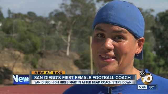 San <b>Diego High School</b> hires woman to coach football team - 10News.com KGTV <b>...</b> - San_Diego_HS_hires_woman_to_become_schoo_2030380000_8156838_ver1.0_640_480