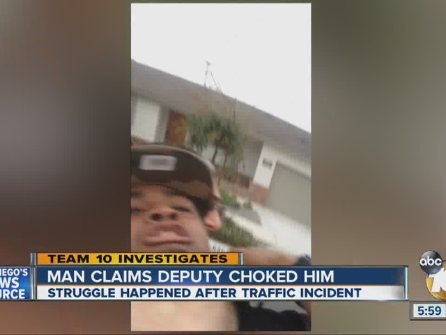 Man claims deputy choked him