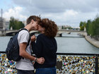 'Love locks' on Pont des Arts bridge in Paris
