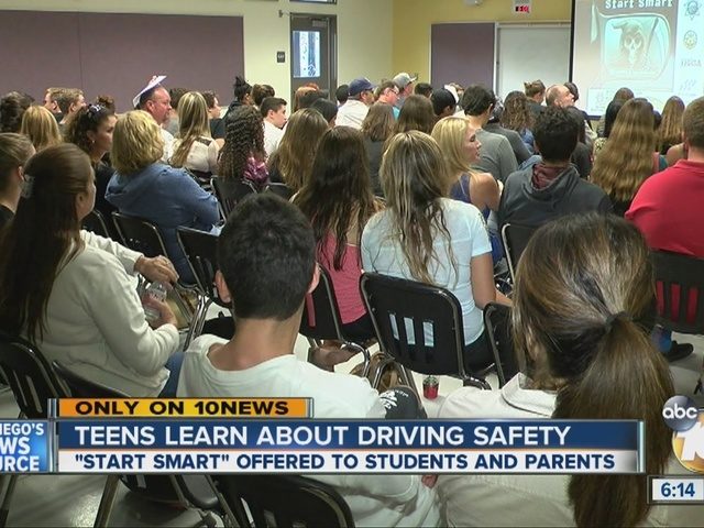 Teens learn about driving safety at