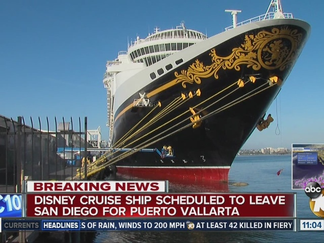 Disney Cruise Out Of San Diego Will Go On Despite