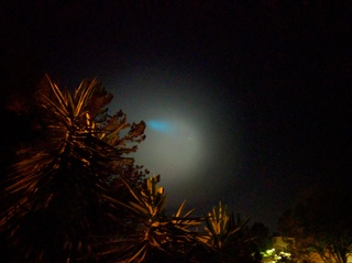 PHOTOS: What's that blue light in the sky?