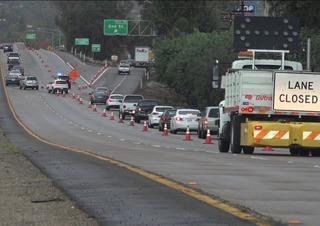 I-8 lanes in El Cajon open; closure set for 12AM