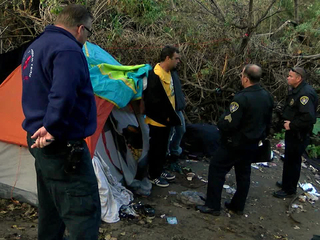 Police warn homeless San Diegans about El Niño
