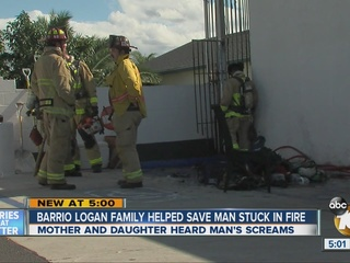 Barrio Logan family helps man trapped in fire