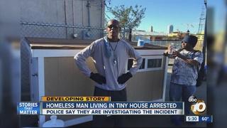 Homeless man arrested for his donated tiny house 10Newscom KGTV