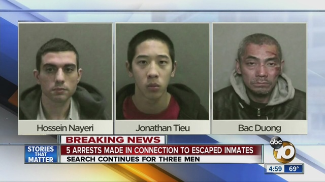 5 arrested, accused of helping OC inmates escape - 10News.com KGTV ...