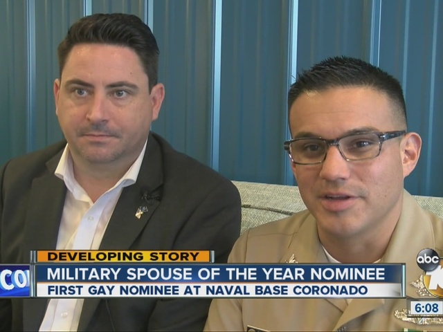 Gay man reacts to Military Spouse of the Year nomination