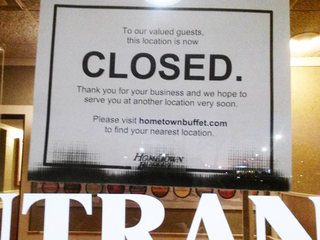 HomeTown Buffet restaurants abruptly close