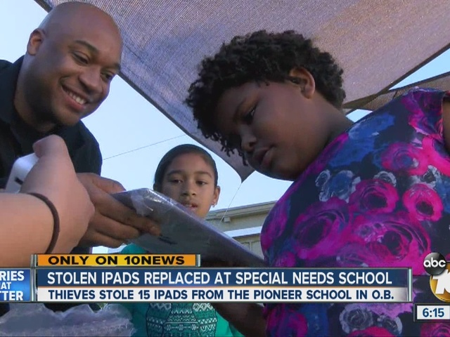 Father & daughter team up to replace iPads stolen from school for kids…