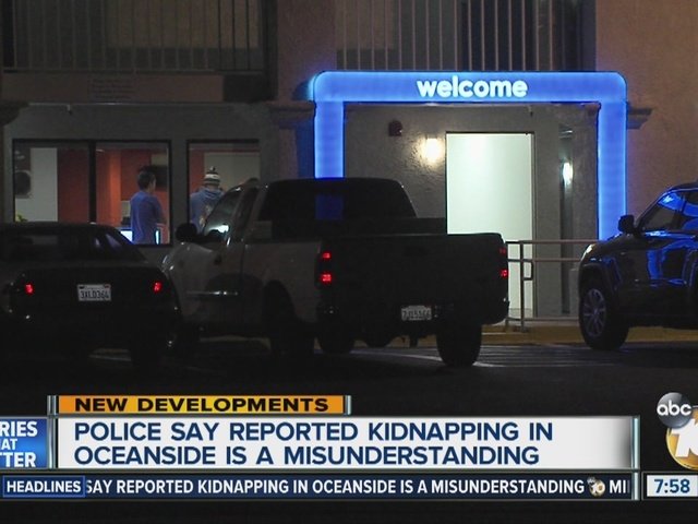 Police: reported kidnapping was a misunderstanding
