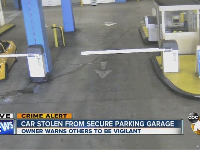 Car stolen from secure parking garage