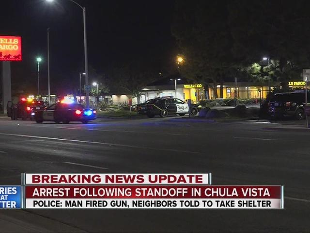 Chula Vista man fires gunshots, puts complex on lockdown