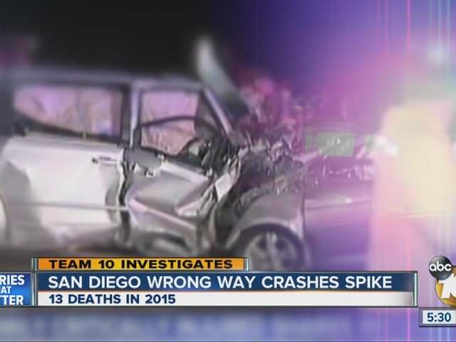 Team 10: San Diego wrong way crashes spike