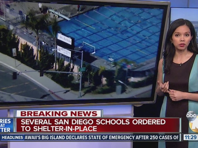 Several San Diego Schools ordered to shelter in place