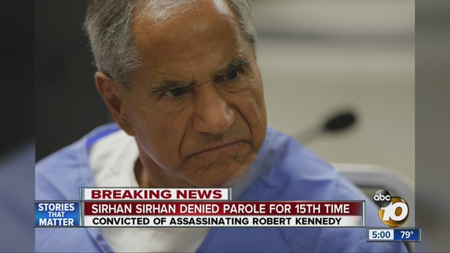 Robert F Kennedy Killer Sirhan Sirhan Denied Parole For