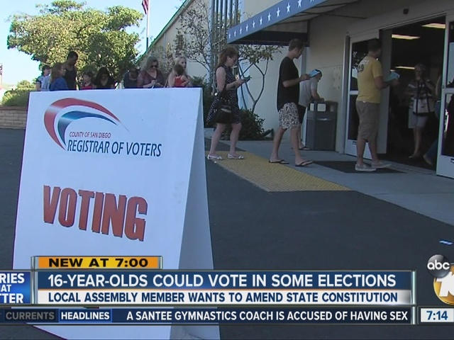 16-year-olds could vote in some elections